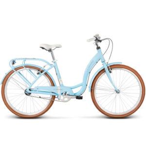 rower miejski niebieski